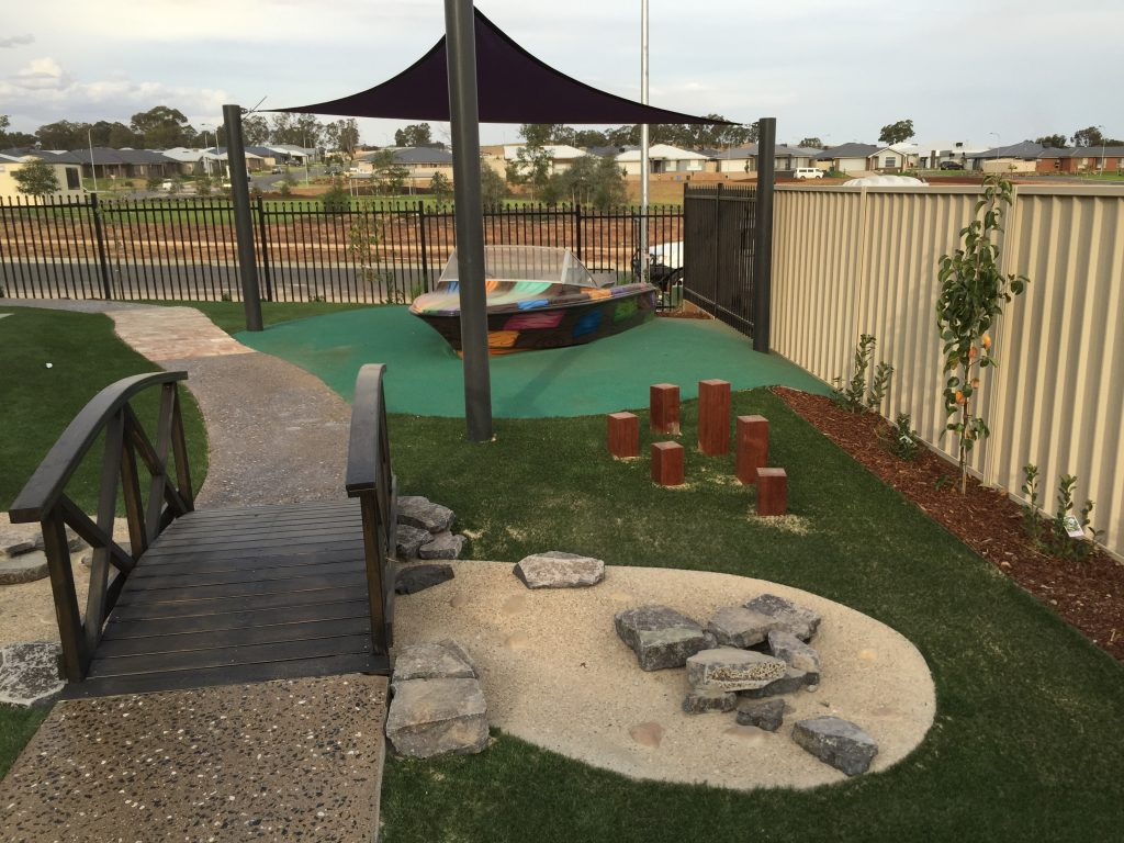 Angel's Paradise Early Education Wagga Wagga Childcare Centre yard view Gobbagombalin